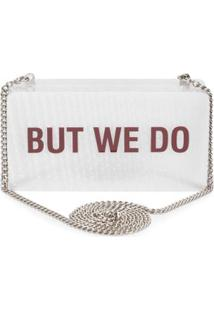 Bolsa Quote Clutch Schutz - Off White