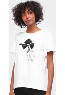 Camiseta Forum Estampada Manga Curta Feminina - Feminino-Areia