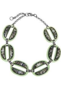 Colar Le Diamond Choker Ellos Feminino - Feminino-Verde