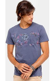 Camiseta Sommer Tinturada Floral Bolso Masculina - Masculino
