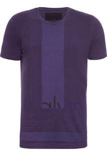 Camiseta Masculina Estampa Frente E Costas - Roxo