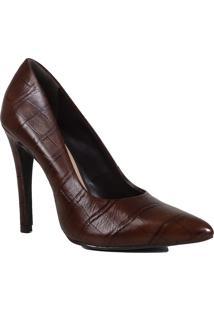 Sapato Scarpin Zariff Salto Fino Croco