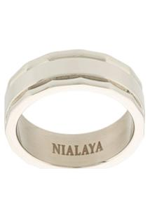 Nialaya Jewelry Anel Com Gravação - Cinza
