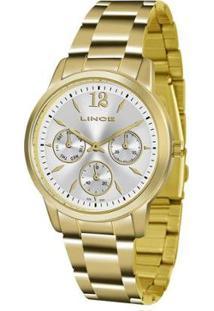 Relógio Lince Dourado Analógico Feminino - Feminino