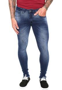 Calça Jeans Rowers Skinny Desgastes Azul