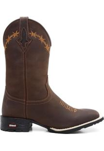 Bota Texana Craz Horse Cafe Escuro 00008 - Masculino-Marrom