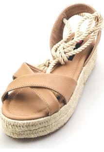 Salomé Espadrille Love Shoes Anabela Plataforma Corda Amarrar - Kanui
