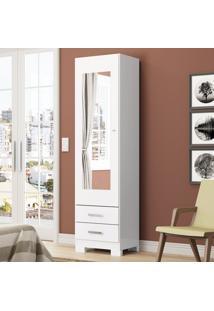 Sapateira 1 Porta Espelho Leon D195-10 Branco - Henn