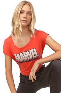 Blusa Cativa Marvel Logo Laranja