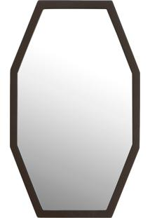 Espelho De Parede Pequeno Marabu - Marrom