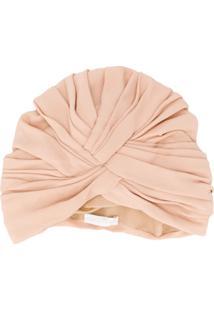 Fabiana Filippi Pleated Turban Hat - Rosa