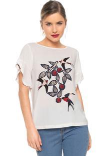 Camiseta Maria Filó Amoras Branca