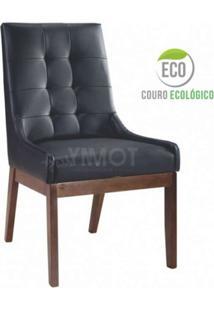 Poltrona Florença Sem Braço - Couro Ecológico Preto - Tommy Design