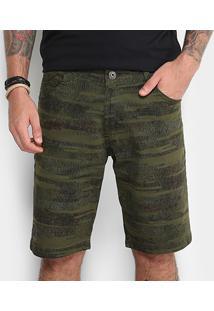 Bermuda De Sarja Gangster Masculina - Masculino-Verde Escuro