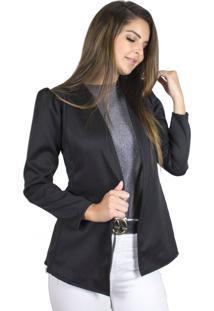 Blazer Dress Code Moda Alfaiataria Preto - Kanui