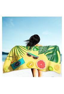 Toalha De Praia / Banho Tropical Palm Único