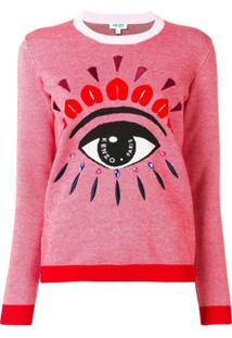 Kenzo Suéter Com Bordado - Rosa