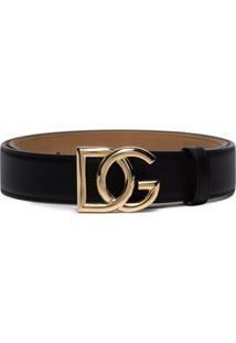 Dolce & Gabbana Cinto Com Logo Dg - Preto