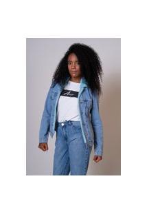 Jaqueta Jeans Aero Jeans Forrada Com Pelo Azul
