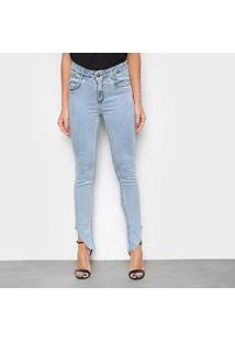 Calça Jeans Lança Perfume Nix Assimétrica Feminina - Feminino