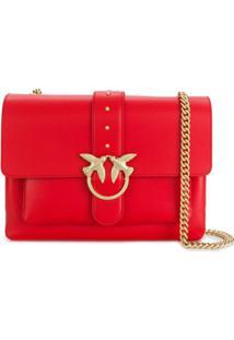 Pinko Simply Cross Body Bag - Vermelho