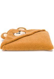 Moschino Kids Cobertor Com Estampa De Urso - Marrom