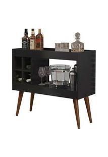 Aparador Bar Com Adega Laguna - Preto - Rpm Móveis