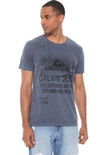 Camiseta Calvin Klein Jeans Dreams And Reality Cinza