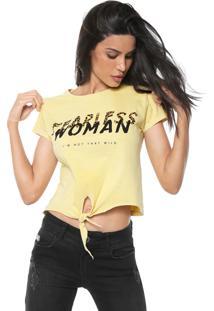 Camiseta Fiveblu Fearless Amarela