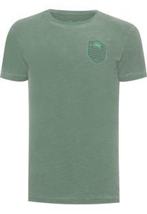 Camiseta Masculina Rough Brasão Shade - Verde