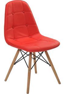 Cadeira Sem Braço Eiffel Botone-Rivatti - Vermelho