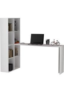 Escrivaninha Estante Branca Brv Móveis