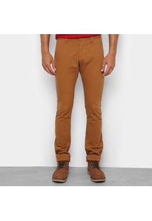 Calça Sarja Skinny Wrangler Masculina - Masculino-Caramelo