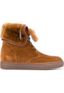 Doucal'S Ankle Boot De Couro - Marrom
