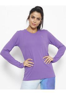 Camiseta Lisa Com Proteção Fpu® 50+- Roxalupo