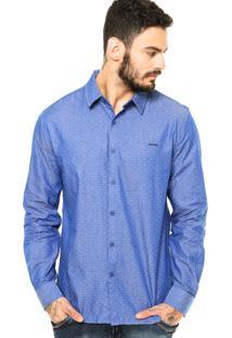 Camisa Sommer Fred Poá Azul
