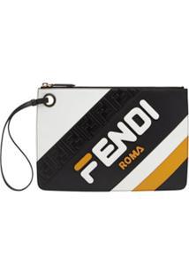 Fendi Clutch Com Logo - Preto