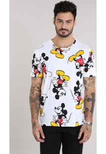 Camiseta Estampada Mickey Mouse Off White