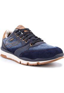 Sapatênis Bow River Camurça E Jeans Azul