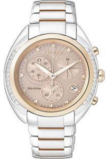 Relógio Analógico Tz28306X- Prateado & Rosê Gold- Cicitizen