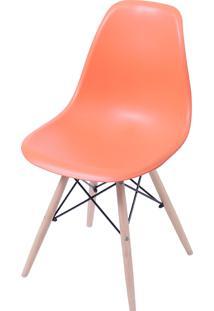 Cadeira Eames Dkr C/ Base De Madeira Or-1102B – Or Design - Laranja