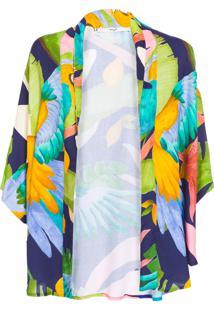 Kimono Feminino Curto - Verde