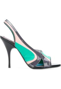 Emilio Pucci Sandália Color Block - Verde