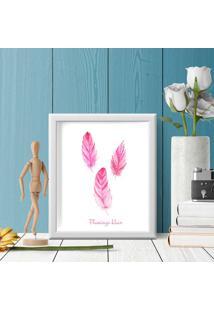 Quadro Decorativo Com Moldura Hair Flamingo
