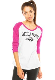 Blusa Billabong Far And Away Branca/Rosa