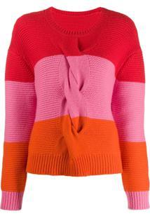 Chinti & Parker Suéter Color Block De Tricô - Vermelho