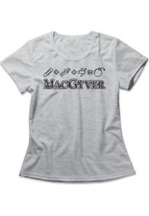 Camiseta Feminina Macgyver - Feminino-Mescla