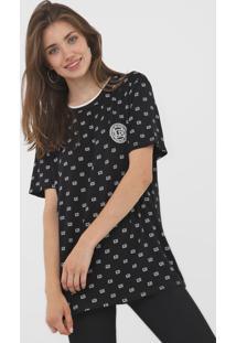 Camiseta Lanã§A Perfume Estampada Preta - Preto - Feminino - Viscose - Dafiti
