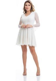 b475d17da Vestido Manga Longa Renda feminino | Shoelover