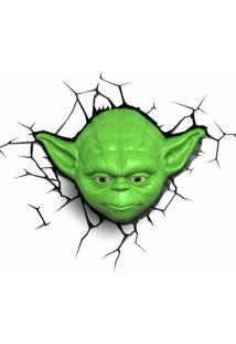 Luminária De Parede - 3D - Disney - Star Wars - Episódio Vii - Mestre Yoda - Beek Geeks